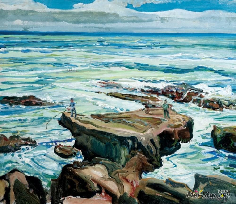 查尔斯·赖费尔(Charles Reiffel)高清作品《拉古纳之晨》
