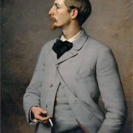 查爾斯·斯普拉格·皮爾斯(Charles Sprague Pearce)高清作品:Portrait of Paul Wayland Bartlett