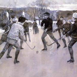《滑冰》施爾德·哈森(Childe Hassam)高清作品欣賞