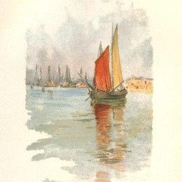 《Woodboats和Dogana》施爾德·哈森(Childe Hassam)高清作品欣賞
