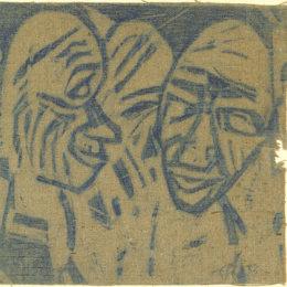 《大頭(2個頭)》克里斯蒂安·羅夫斯(Christian Rohlfs)高清作品欣賞