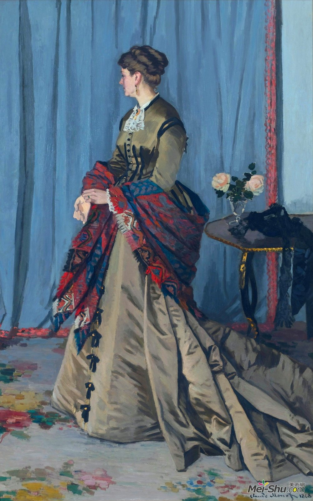 克劳德·莫奈(Claude Monet)高清作品《Portrait of Madame Gaudibert》