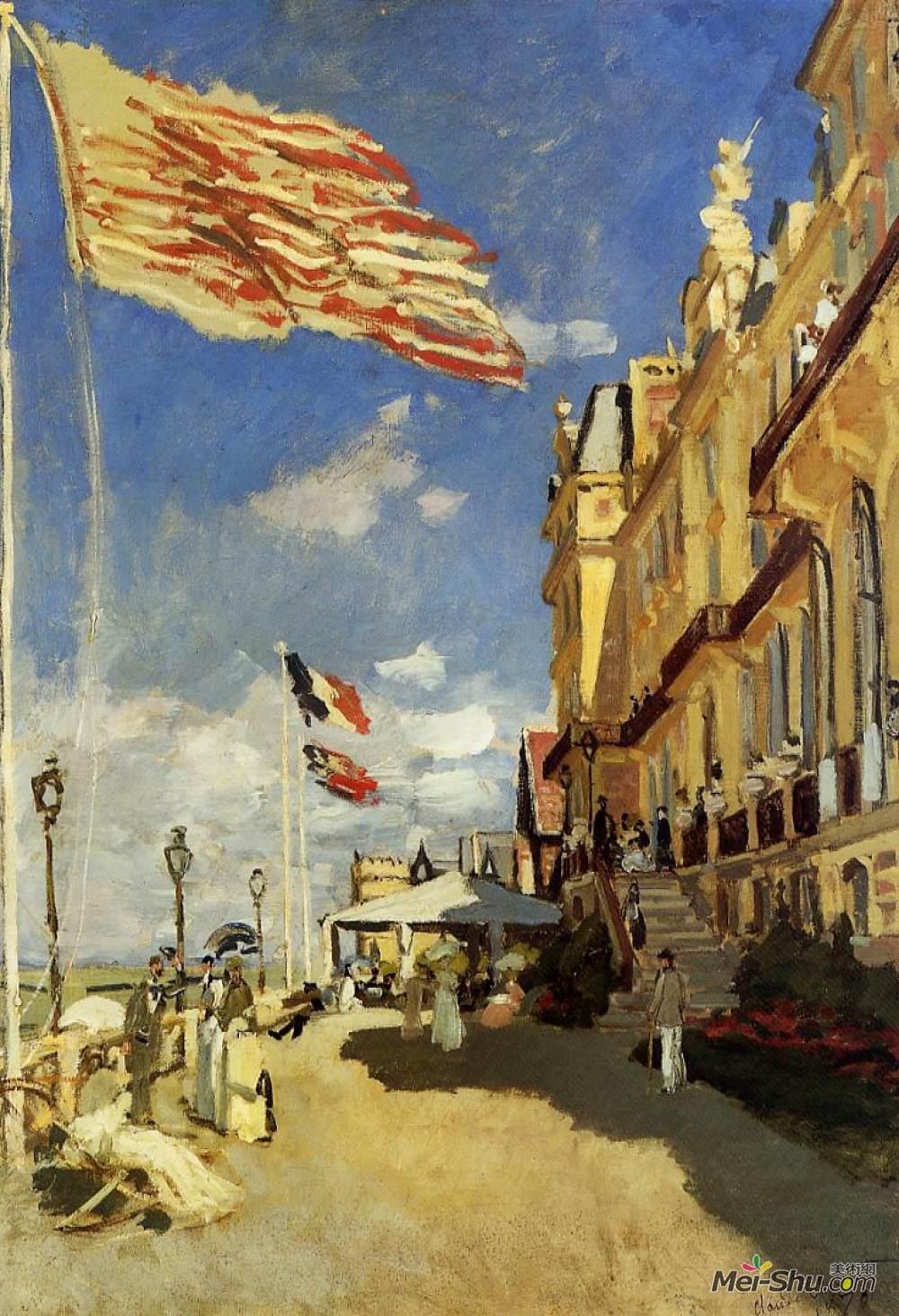 克劳德·莫奈(Claude Monet)高清作品《The Hotel des Roches Noires at Trouville》