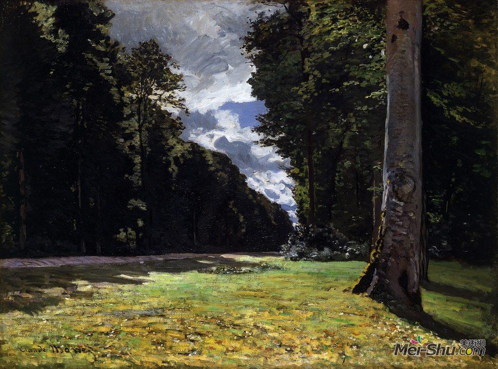 克劳德·莫奈(Claude Monet)高清作品《The Pave de Chailly in the Fontainbleau Forest》