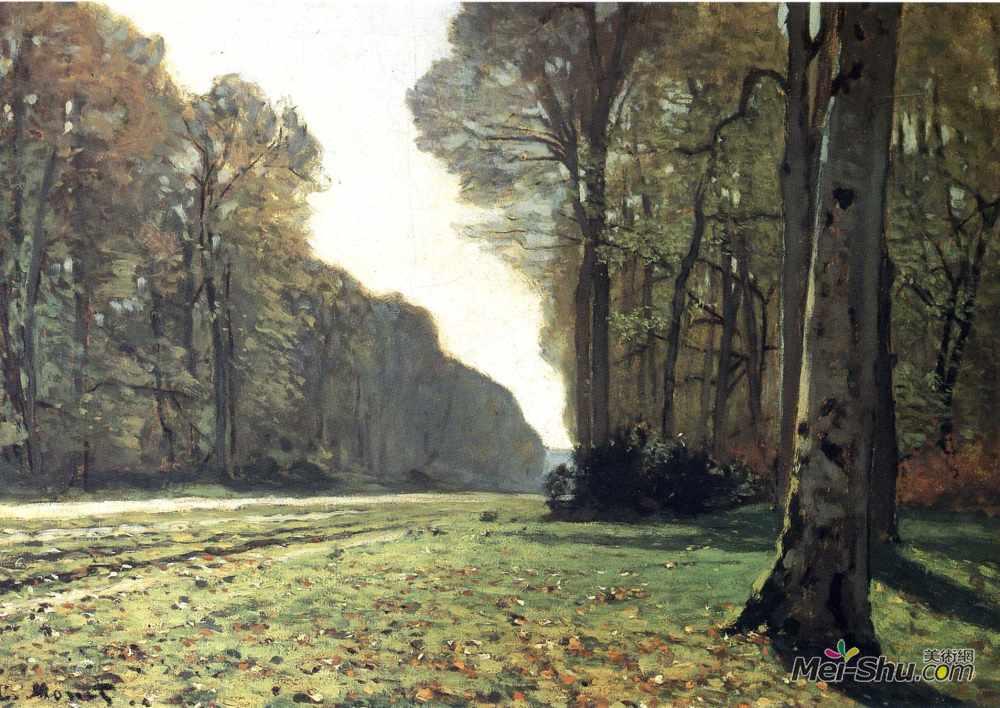 克劳德·莫奈(Claude Monet)高清作品《The Pave de Chailly in the Forest》