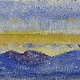 《日落山脈》庫諾 · 阿米耶(Cuno Amiet)高清作品欣賞