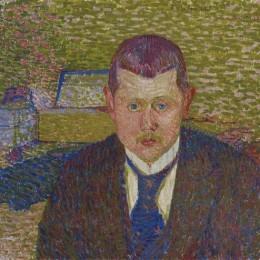 《庫爾特馮奧斯卡的肖像》庫諾 · 阿米耶(Cuno Amiet)高清作品欣賞