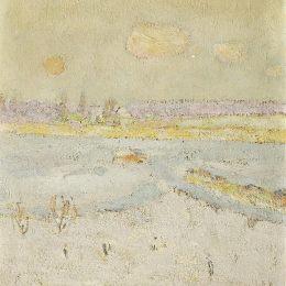 《冬季景觀》庫諾 · 阿米耶(Cuno Amiet)高清作品欣賞
