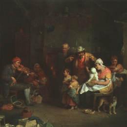 大衛·維爾基(David Wilkie)高清作品:The Blind Fiddler, illustration from Lives of Great