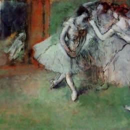 《舞蹈團》埃德加·德加(Edgar Degas)高清作品欣賞