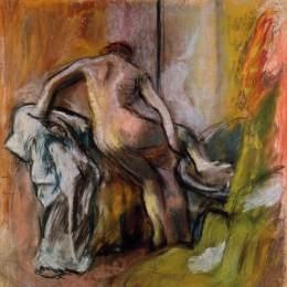 《離開浴室》埃德加·德加(Edgar Degas)高清作品欣賞