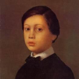 埃德加·德加(Edgar Degas)高清作品:Portrait of Rene De Gas