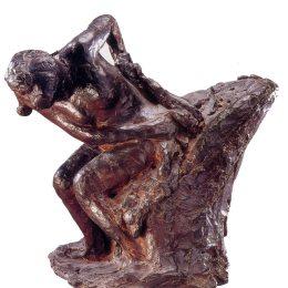 《坐著的女人擦干自己》埃德加·德加(Edgar Degas)高清作品欣賞