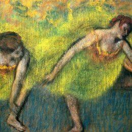 《兩個休息舞者》埃德加·德加(Edgar Degas)高清作品欣賞