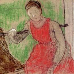 《窗外的女人》埃德加·德加(Edgar Degas)高清作品欣賞