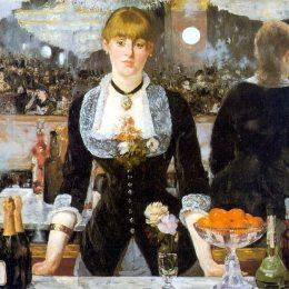 愛德華·馬奈(Edouard Manet)高清作品:A Bar at the Folies-Bergere