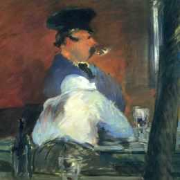 愛德華·馬奈(Edouard Manet)高清作品:In the bar &ampquotLe Bouchon&ampquot