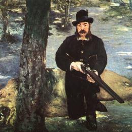 愛德華·馬奈(Edouard Manet)高清作品:Pertuiset, Lion Hunter