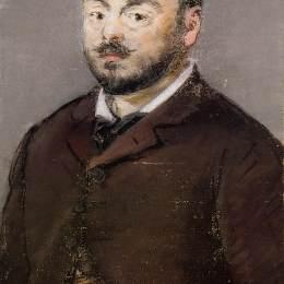愛德華·馬奈(Edouard Manet)高清作品:Portrait of composer Emmanual Chabrier