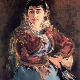 愛德華·馬奈(Edouard Manet)高清作品:Portrait of Emilie Ambre in role of Carmen