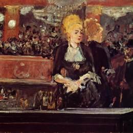 愛德華·馬奈(Edouard Manet)高清作品:Study for &ampquotBar at the Folies-Bergere&ampquot
