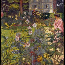 《沃克雷松花園》愛德華·維亞爾(Edouard Vuillard)高清作品欣賞