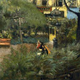 《柏遼茲廣場(廣場奸詐)》愛德華·維亞爾(Edouard Vuillard)高清作品欣賞