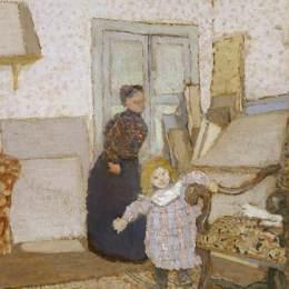 《第一步》愛德華·維亞爾(Edouard Vuillard)高清作品欣賞