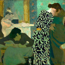 《花式連衣裙》愛德華·維亞爾(Edouard Vuillard)高清作品欣賞
