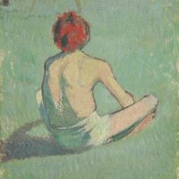 《草地上的男孩》埃米爾·伯納德(Emile Bernard)高清作品欣賞