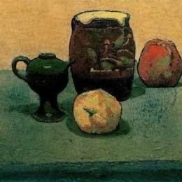 《陶罐和蘋果》埃米爾·伯納德(Emile Bernard)高清作品欣賞
