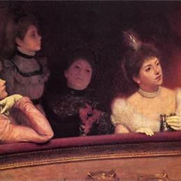 《在劇院》費德里科·薩多梅內加(Federico Zandomeneghi)高清作品欣賞