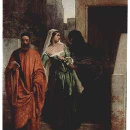 《威尼斯婦女》弗朗切斯科·海茲(Francesco Hayez)高清作品欣賞