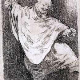 《帶城堡的幻影舞蹈》弗朗西斯科·戈雅(Francisco Goya)高清作品欣賞