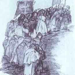 《僧侶隊伍》弗朗西斯科·戈雅(Francisco Goya)高清作品欣賞