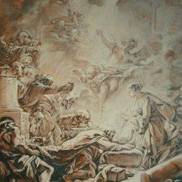 《對賢士的崇拜》弗朗索瓦·布歇(Francois Boucher)高清作品欣賞