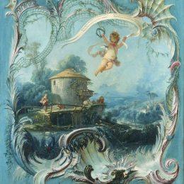 《夢幻家園丘比特超越田園風光》弗朗索瓦·布歇(Francois Boucher)高清作品欣賞