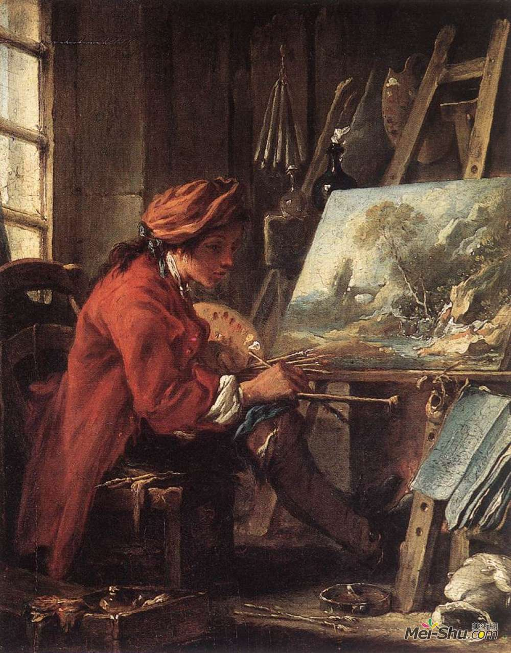 弗朗索瓦·布歇(Francois Boucher)高清作品《画室画家》