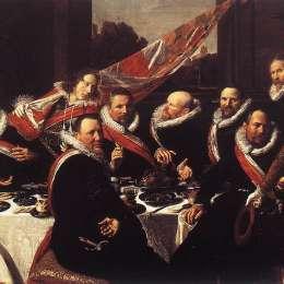 《圣喬治民兵組織官員的宴會》弗朗斯·哈爾斯(Frans Hals)高清作品欣賞