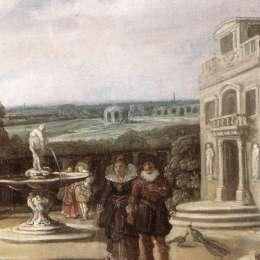 《花園里的已婚夫婦(細節)》弗朗斯·哈爾斯(Frans Hals)高清作品欣賞