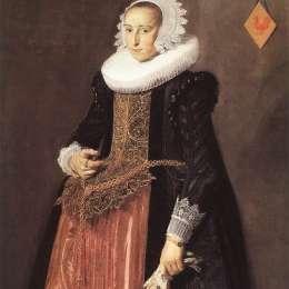 《阿萊塔哈尼曼畫像》弗朗斯·哈爾斯(Frans Hals)高清作品欣賞