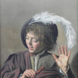 《用笛子唱歌的男孩》弗朗斯·哈爾斯(Frans Hals)高清作品欣賞