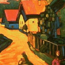《村街》弗朗茨·馬克(Franz Marc)高清作品欣賞