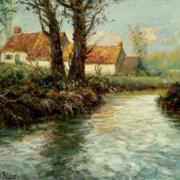 《水邊的房子》弗里茨·索爾洛(Frits Thaulow)高清作品欣賞