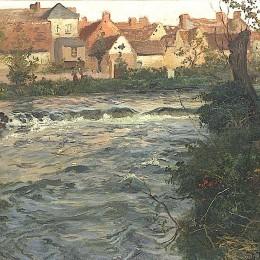 《景觀和河流》弗里茨·索爾洛(Frits Thaulow)高清作品欣賞