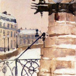 《巴黎的冬天》弗里茨·索爾洛(Frits Thaulow)高清作品欣賞