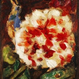加布里埃爾·穆特(Gabriele Munter)高清作品:Blume mit Vogel und Echsenkopf