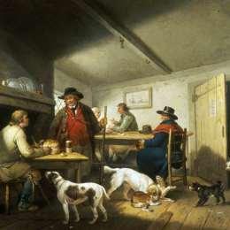 《鄉村旅館的內部》喬治·默蘭德(George Morland)高清作品欣賞