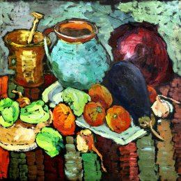 《靜物與蔬菜》喬治·斯特凡內斯丘(George Stefanescu)高清作品欣賞