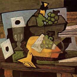 《靜物(單簧管)》喬治·布拉克(Georges Braque)高清作品欣賞